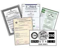 McQuay - маркировка СЕ, сертификат стандарта ISO 9001